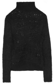 Rick Owens Open-knit mohair and silk-blend sweater