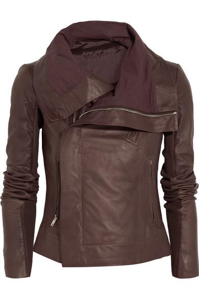 Sale alerts for Leather biker jacket Rick Owens - Covvet