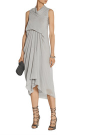 Rick Owens Tornado draped silk-georgette dress