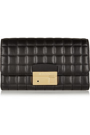 Michael Kors Gia quilted leather clutch