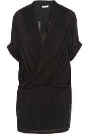 Draped jersey mini dress