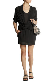 Helmut Lang Draped jersey mini dress