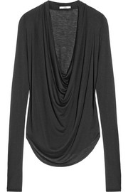 Kinetic draped Micro Modal-blend top