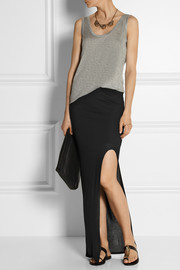 Helmut Lang Side-split jersey maxi skirt