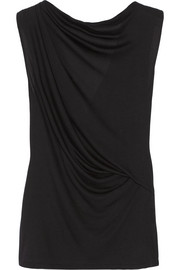 Helmut Lang Open-back jersey top