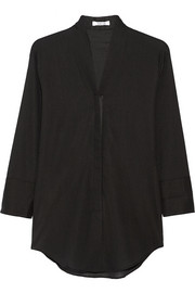 Helmut Lang Ribbed stretch cotton-blend jacket
