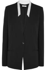 Two-tone crepe blazer