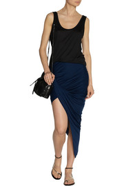 Helmut Lang Asymmetric draped jersey skirt