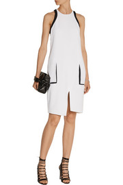 Helmut Lang Slit-back crepe dress