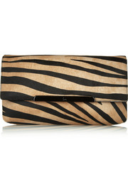 Christian Louboutin Rougissime tiger-print calf hair clutch