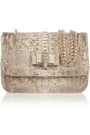 Christian Louboutin Sweety Charity metallic python shoulder bag