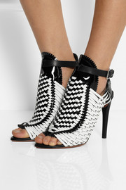 Proenza Schouler Woven patent-leather sandals