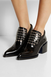 Jil Sander Eyelet-embellished leather ankle boots