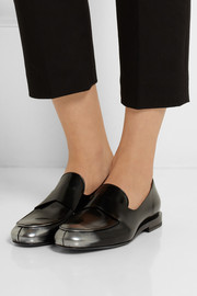 Jil Sander Patent-leather penny loafers
