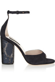 Marc Jacobs Sequin-embellished suede sandals