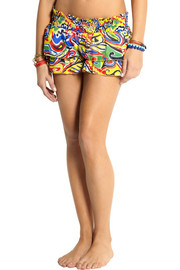 Emamó Printed cotton shorts