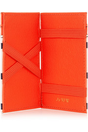 J.Crew Kiki Magic neon textured-leather wallet