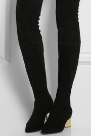 Nicholas Kirkwood Over-the-knee stretch-suede boots