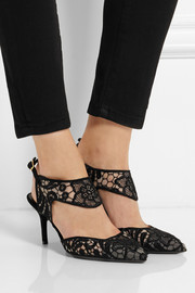 Nicholas Kirkwood Embroidered mesh pumps