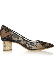 Nicholas Kirkwood Lace and leather pumps