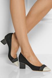 Nicholas Kirkwood Suede and elaphe pumps