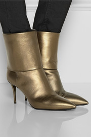 Giuseppe Zanotti Yvette metallic leather ankle boots