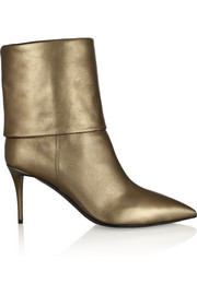 Yvette metallic leather ankle boots