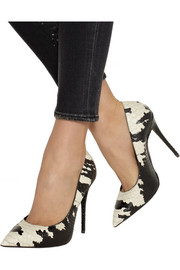Yvette printed snake-effect leather pumps