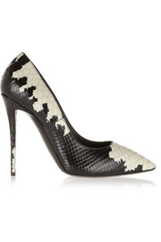 Giuseppe Zanotti Yvette printed snake-effect leather pumps