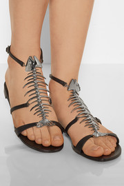 Giuseppe Zanotti Fish-embellished leather sandals