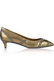 Giuseppe Zanotti Yvette zip-embellished metallic leather pumps