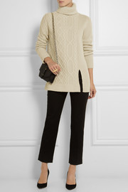 Mulberry Aran merino wool and cashmere-blend sweater