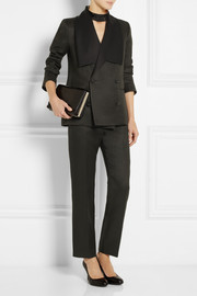 Mulberry Wool and silk-blend straight-leg pants