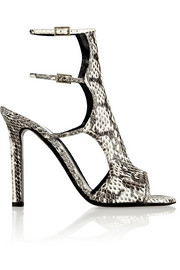 Tamara Mellon Bad Girl printed elaphe sandals