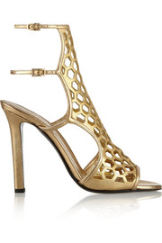 Tamara Mellon Scandal cutout metallic leather sandals