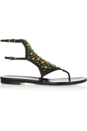 Tamara Mellon Embellished leather sandals