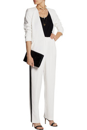 Paul & Joe Kofi satin-trimmed twill wide-leg pants