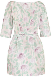 REDValentino Floral-print taffeta mini dress