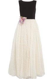 REDValentino Crepe and tulle gown