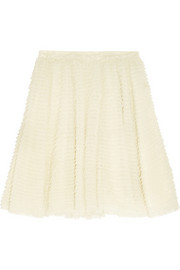 Ruffled tulle skirt