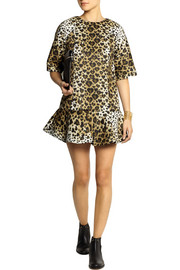 REDValentino Leopard-print scuba-jersey mini dress