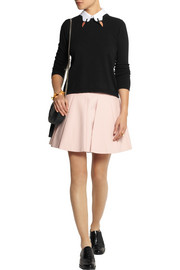 REDValentino Pleated stretch-cotton mini skirt