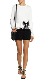 REDValentino Bow-embellished wool sweater