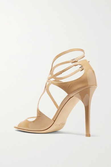 Jimmy Choo Sandals Lang 100 patent-leather sandals