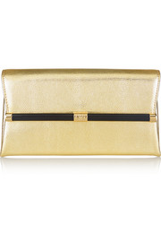 Diane von Furstenberg Lizard-effect leather clutch