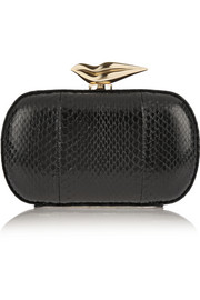 Diane von Furstenberg Flirty elaphe box clutch