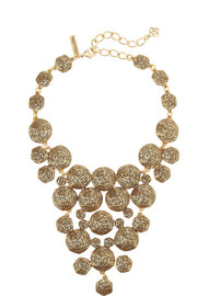 Oscar de la Renta Swirl gold-plated necklace