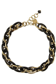 Ashley Pittman Ndovu horn and gold-tone chain-link necklace