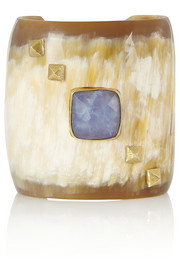 Ashley Pittman Wingu horn and chrysoprase cuff