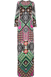 Temperley London Miri printed silk gown